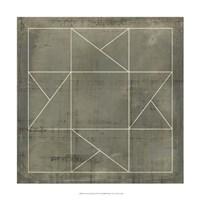 "Geometric Blueprint II by Vision Studio - 18"" x 18"""