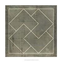 "Geometric Blueprint III by Vision Studio - 18"" x 18"""