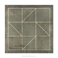 "Geometric Blueprint IV by Vision Studio - 18"" x 18"""