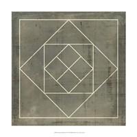 "Geometric Blueprint V by Vision Studio - 18"" x 18"""