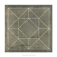 "Geometric Blueprint VIII by Vision Studio - 18"" x 18"""