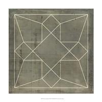 "Geometric Blueprint IX by Vision Studio - 18"" x 18"""