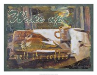 "Wake Up and Smell the Coffee by Lorraine Vail - 24"" x 18"""