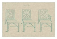 """Chinese Chippendale Chairs I by Vision Studio - 26"""" x 18"""""""