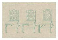 """Chinese Chippendale Chairs II by Vision Studio - 26"""" x 18"""""""