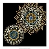 "Midnight Rosette I by Chariklia Zarris - 18"" x 18"""