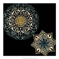 "Midnight Rosette IV by Chariklia Zarris - 18"" x 18"""