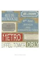 "Tour of Paris by Chariklia Zarris - 13"" x 19"""