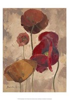 "Textured Poppies II by Marietta Cohen - 13"" x 19"""
