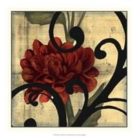 "Dahlias & Scrolls I by Jennifer Goldberger - 19"" x 19"" - $24.99"