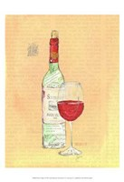 "Wine Collage II by Julia Minasian - 19"" x 19"""