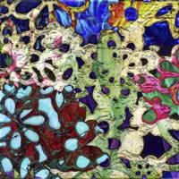 Bejeweled Woodblock II Fine Art Print
