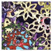 Bejeweled Woodblock IV Fine Art Print
