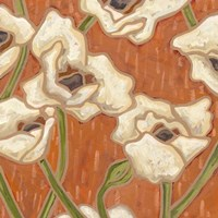 Persimmon Floral I by Karen Deans - various sizes