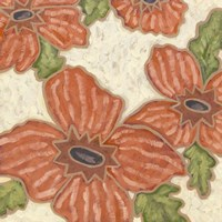 Persimmon Flora II Fine Art Print