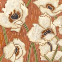 Persimmon Floral III by Karen Deans - various sizes