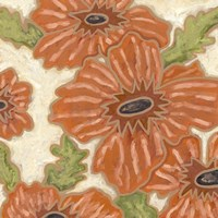 Persimmon Floral IV by Karen Deans - various sizes