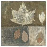 Neutral Leaves I Fine Art Print