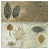 Neutral Leaves III Fine Art Print
