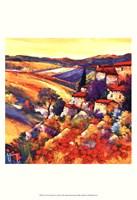 Couchant dans les collines Fine Art Print