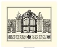 B&W Grand Garden Gate II Fine Art Print