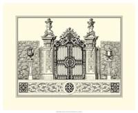 B&W Grand Garden Gate III Fine Art Print