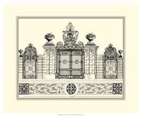 B&W Grand Garden Gate IV Fine Art Print