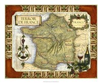 Wine Map of France Fine Art Print