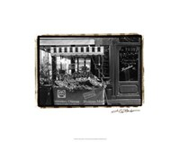 "Cafe Charm, Paris I by Laura Denardo - 24"" x 19"""