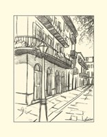 B&W Sketches of Downtown I by Ethan Harper - various sizes