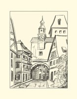 B&W Sketches of Downtown VI by Ethan Harper - various sizes
