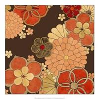 "Cascading Blooms in Tangerine II by June Erica Vess - 20"" x 20"""