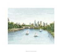"""Plein Air Cityscape IV by Ethan Harper - 20"""" x 20"""""""