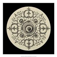 "Black & Tan Medallion I by Vision Studio - 20"" x 20"""