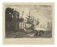Antique Harbor IV Fine Art Print