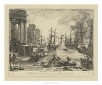 Antique Harbor V Fine Art Print
