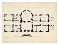 Antique Building Plan I Fine Art Print