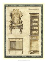 """Chippendale Furniture II by Vision Studio - 16"""" x 21"""""""