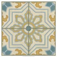 "No Embellish* Old World Tiles III by Chariklia Zarris - 21"" x 21"", FulcrumGallery.com brand"