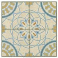 "No Embellish* Old World Tiles IV by Chariklia Zarris - 21"" x 21"", FulcrumGallery.com brand"