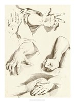 """Study of Hands by Denis Diderot - 16"""" x 22"""", FulcrumGallery.com brand"""