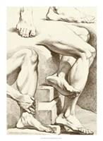"Study of Feet by Denis Diderot - 16"" x 22"", FulcrumGallery.com brand"