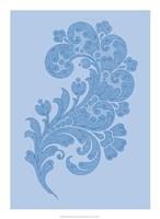 "Porcelain Blue Motif II by Vision Studio - 16"" x 22"""