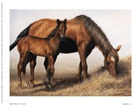 "Mare and Foal by Vi Thurmond - 8"" x 6"""