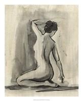 "Sumi-e Figure I by Ethan Harper - 18"" x 22"""