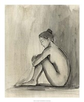 "Sumi-e Figure IV by Ethan Harper - 18"" x 22"""