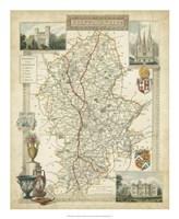 Map of Staffordshire Fine Art Print