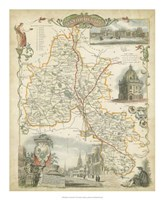 Map of Oxfordshire Fine Art Print