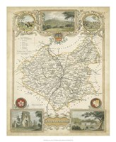 Map of Leicestershire Fine Art Print
