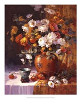 "Mums and Persimmons by Maxine Johnston - 18"" x 22"""